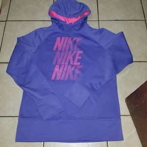 Nike therma-fit purple pullover hoodie large